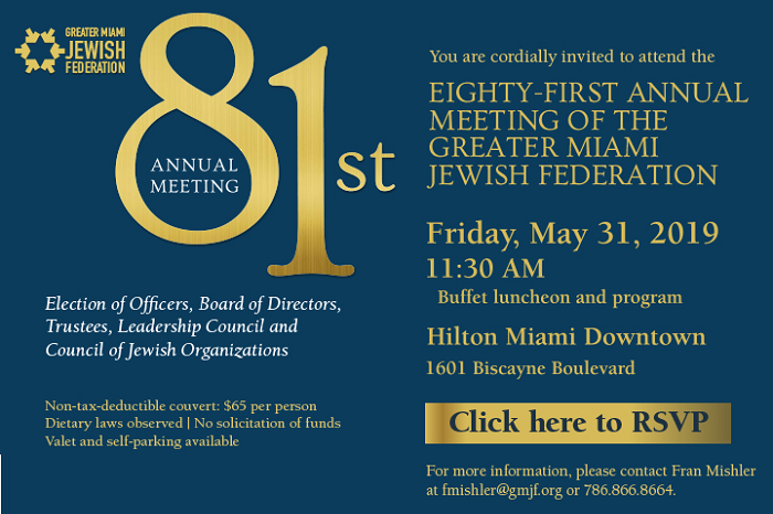 Greater Miami Jewish Federation 81st Annual Meeting