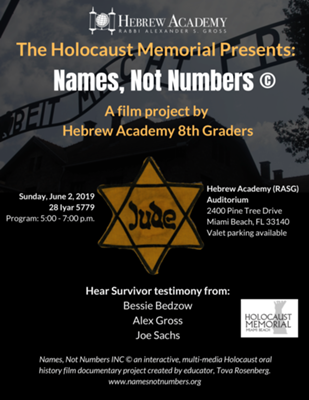 The Holocaust Memorial Presents: Names, Not Numbers ©