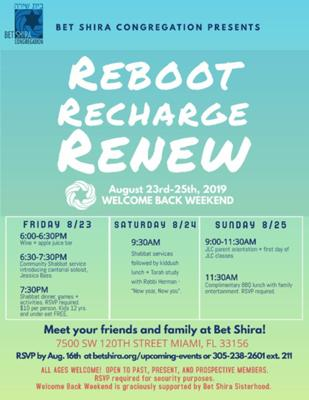 reBoot, reCharge and reNew