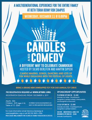 Candles and Comedy at Beth Torah Benny Rok Campus