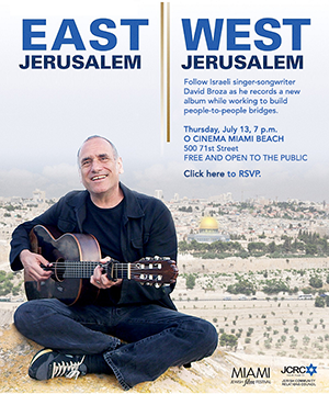 The Miami Jewish Film Festival and JCRC invite you to a special presentation of EAST JERUSALEM/WEST JERUSALEM