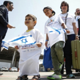 Israel Welcomes 200 French Olim