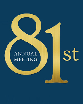 Don't Miss the 81st Annual Meeting