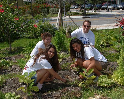 Teen Center Gardening Summer 85