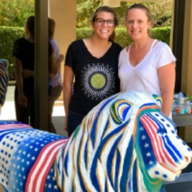 Lion of Judah Sculpture Lovingly Restored by Mother-Daughter Duo