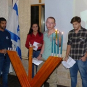 New Olim Celebrate Chanukah in Israeli Homeland