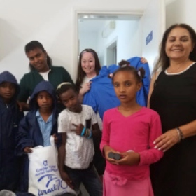 Israel at 70 Mission Makes Donation to New Olim