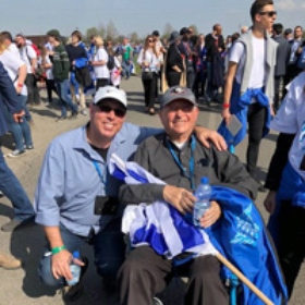 Participants in the Pre-Mission to Poland Mark Yom HaShoah on the March of the Living