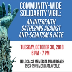 Join Us This Tuesday At A Solidarity Vigil Against Anti-Semitism & Hate